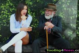 Teen Abella Danger freely screwed at Bus Stop