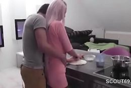 Big Boobs Blonde freely fucked in the Kitchen