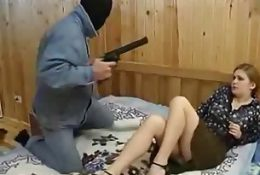 Milf chick forced at gunpoint