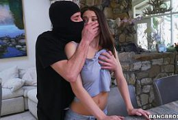 Neglected Lana Rhodes Used By An Intruder