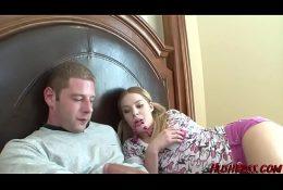 Cute little Ally Ann likes a Massive White Cock!!!